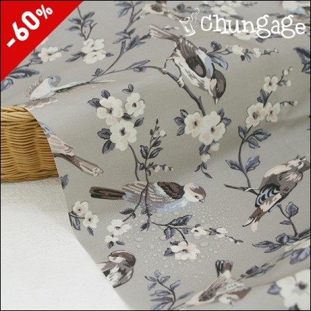 (Special Special Price) Wide- Matte Laminate) Bird Flower (Gray)