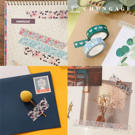 Design Paper Masking Tape Flower Collection 31 types