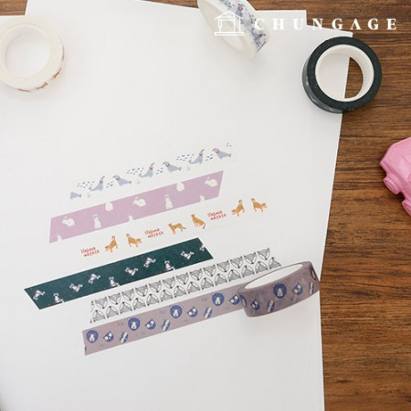 Design Paper Masking Tape Animal Collection All 9 kinds