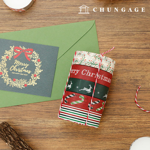 Design Paper Masking Tape Christmas Collection All 8 Types