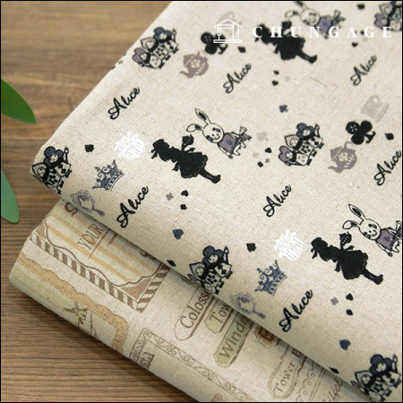 Linen 11 large print cloth Alice in Europe two kinds