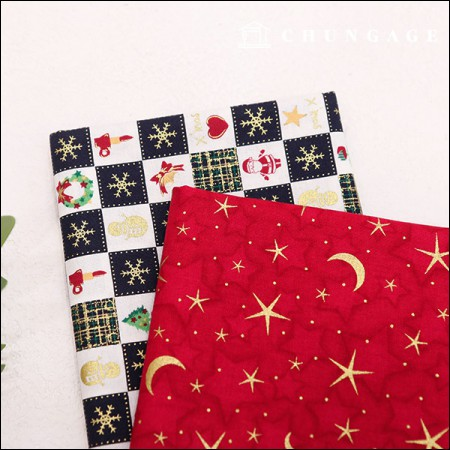 20 Cotton Fabric Christmas Night 2 Types