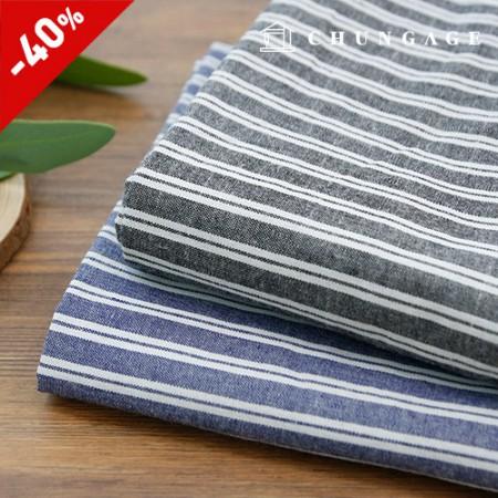 2 types of dyeing washing linen fabric stripe