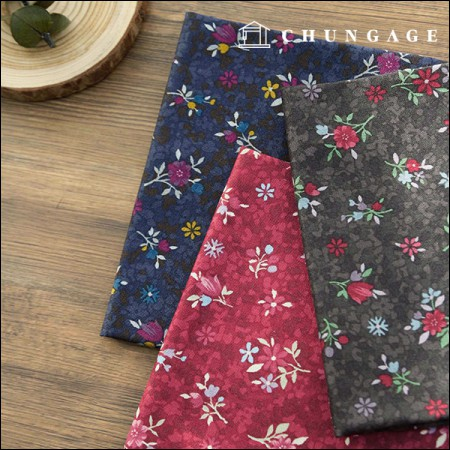 20 Cotton Fabric Winterberry 3 Types