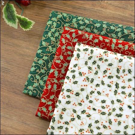 20 Cotton Fabric Poinsettia, 3 Types