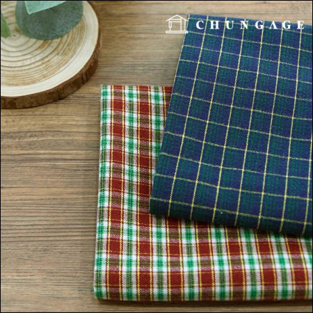 20 cotton fabric matching check