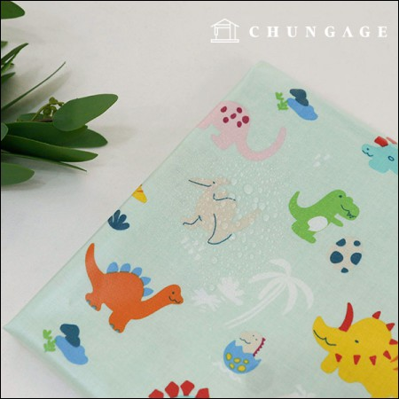 Waterproof Fabric Non-Toxic TPU Laminated Fabric Island Dino