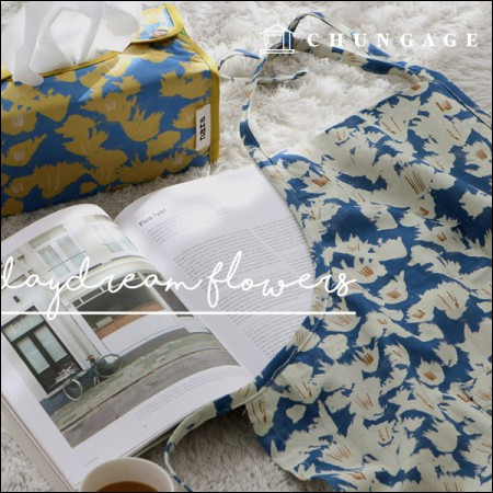 2 types of DTP 11 linen Rebecca Prin Daydream flowers