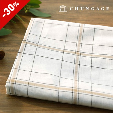 Limited Special Large Linen Cotton Hemp Check