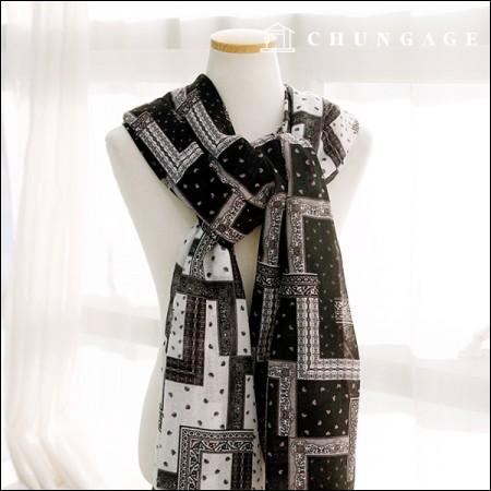 30 pieces herringbone spun yarn modern paisley