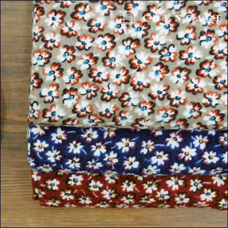 Three kinds of wide cotton brushed fabric lina