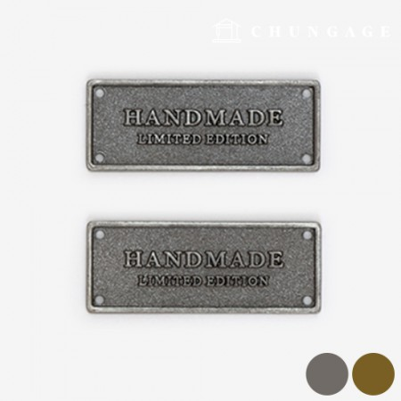 Metal Label Vintage Handmade 2 Types