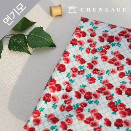 Cotton brushed microfiber fabric Liberty Rose