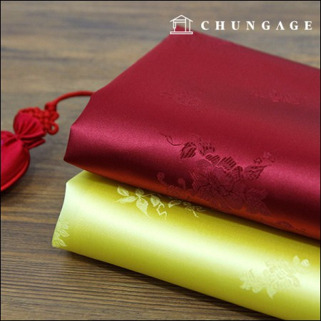 Hanbok Fabric Hanbokcheon Traditional both camellia flowers