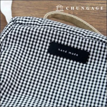 Bi-fold label handmade Black five pieces KL028