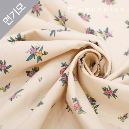 Cotton brushed microfiber fabric barrier