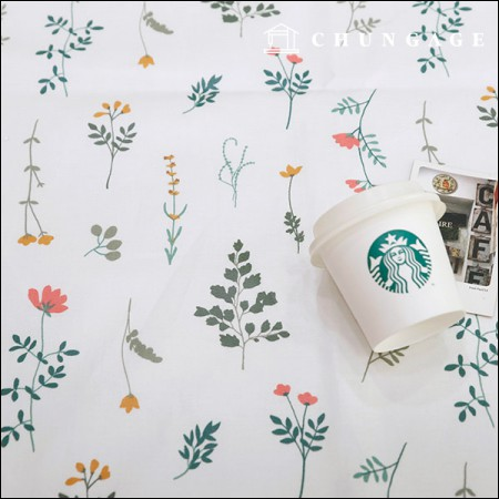 Waterproof Fabric Non-toxic TPU Laminate Fabric Wildflower