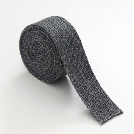 Wave strap for linen webbing strap 30mm bocacíBlack