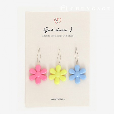 Flower Thread Mount Color Random 3 Set