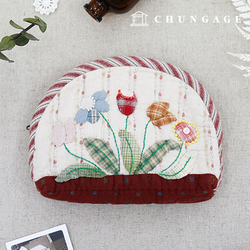 Quilted Package DIY Kit Flower Scent Pouch [CH-611788]