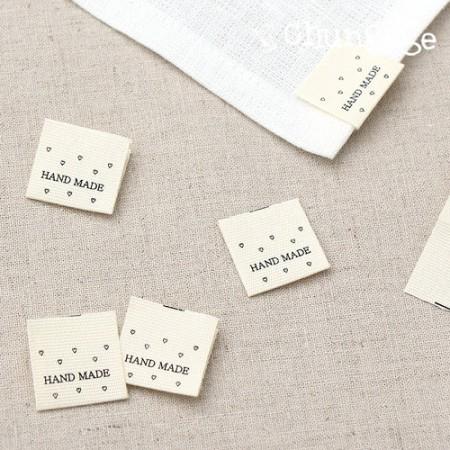Kiwoom Label Heart Bee Hand Made Kiwool Label [LB019]