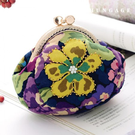 Quilted Package DIY Kit Flower Pattern Coin Purse [CH-615072]