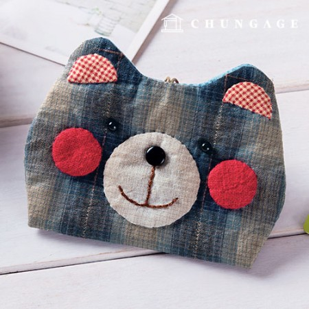 Quilted Package DIY Kit Scarlet Bear Card Wallet [CH-613376A]