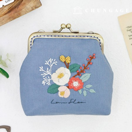 French Embroidery Package Flower DIY Kit Laura Flower Pouch [CH-511853]