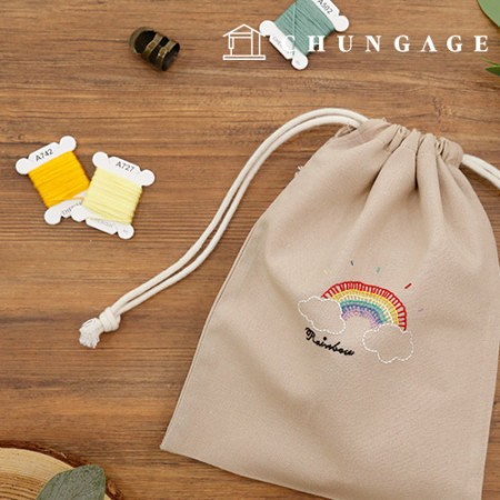 French embroidery package DIY kit rainbow Pouch [CH-560108]