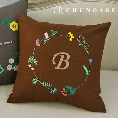 French Embroidery Package Flower DIY Kit Wildflower Cushion Cover CH-511619