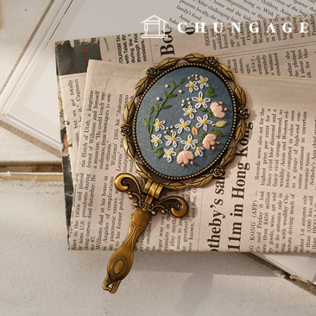 French embroidery package Flower DIY kit bloom hand mirror CH-512026