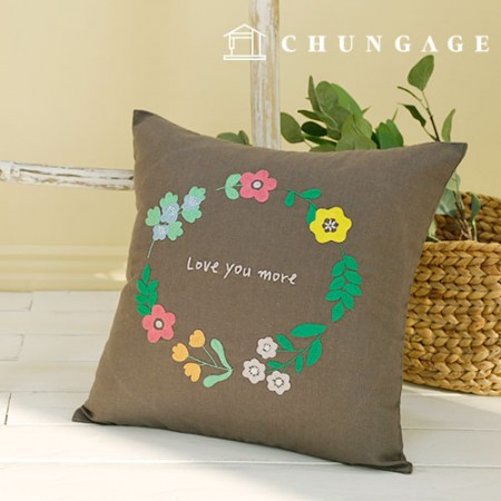 French Embroidery Package Flower DIY Kit Flower Balm Cushion Cover CH-511620