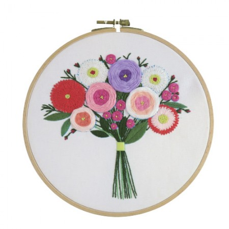 French Embroidery Package Flower DIY Kit First Meeting CH-511212