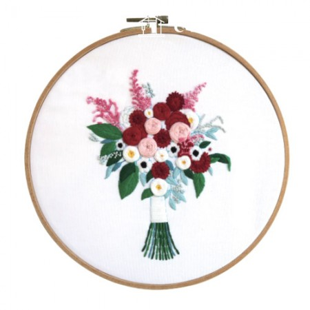 French Embroidery Package Flower DIY Kit Red Flower CH-511217