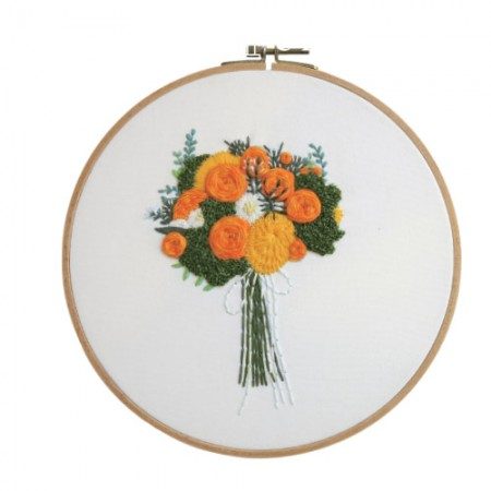 French Embroidery Package Flower DIY Kit Orange Scent CH-511219