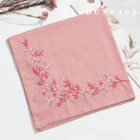 French Embroidery Package Flower DIY Kit Snowflake Flower Handkerchief Pink CH-513502