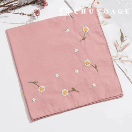 French Embroidery Package Flower DIY Kit Daisy Handkerchief CH-513505