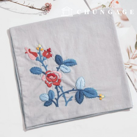 French Embroidery Package Flower DIY Kit Larosa Handkerchief CH-513506