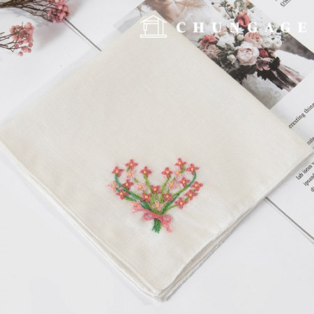French Embroidery Package Flower DIY Kit Flower Bunch Handkerchief CH-513510