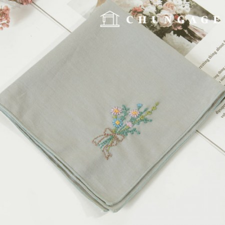 French Embroidery Package Flower DIY Kit Gentle Scent Handkerchief CH-513511