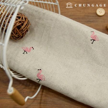 Large Linen Embroidery Fabric Love Mingo 1 / 2Hermp