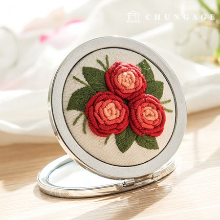 French Embroidery Package Flower DIY Kit Rose Mirror [CH-512010A]