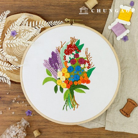 French embroidery package Flower DIY kit warm heart [CH-511158]