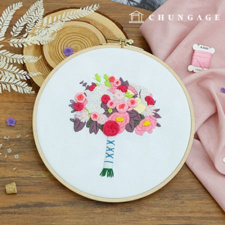 French Embroidery Package Flower DIY Kit Brides of April [CH-511159]