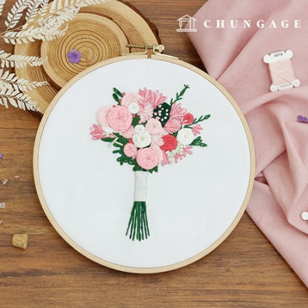 French embroidery package Flower DIY kit laugh Flower [CH-511162]