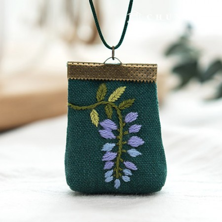 French Embroidery Package Flower DIY Kit Wisteria (2 species) [CH-512506]