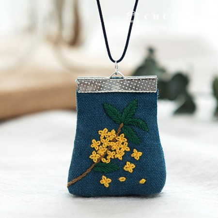French Embroidery Package Flower DIY Kit Yellow Perfume (2) [CH-512501]