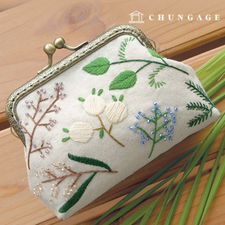 French embroidery package Flower DIY Kit Spring Wind Wallet [CH-511802]