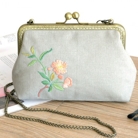 French Embroidery Package Flower DIY Kit Elegant Flower Purse [CH-511805]