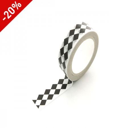 Design Paper Masking Tape Black diamondTA075